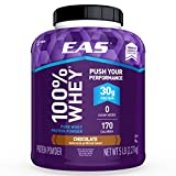 #10: EAS 100% Pure Whey Protein Powder, Chocolate, 5lb Tub, 30 grams of Whey Protein Per Serving (Packaging May Vary)