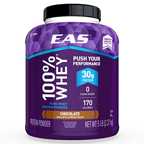 EAS 100% Pure Whey Protein Powder, Chocolate, 5lb Tub, 30 grams of...