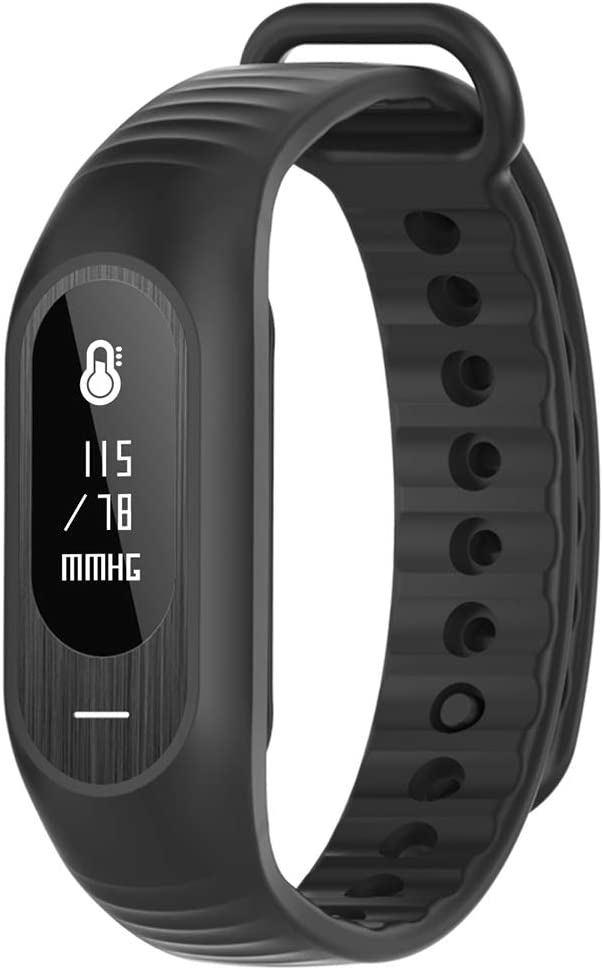 Bluetooth Fitness Rastreador de actividad reloj, reloj inteligente para Android iPhone, unisex podómetro reloj con ritmo cardíaco monitor de presión sanguínea seguimiento del sueño/llamada mensaje rec