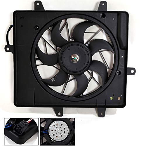 For 621240 Chrysler PT Cruiser L4 2.4L For 2006-2010 Replacement Radiator/Condenser Cooling Fan Assembly CH3115146