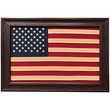Amazon Com R Amp R Antique Cloth American Flag Framed Wall