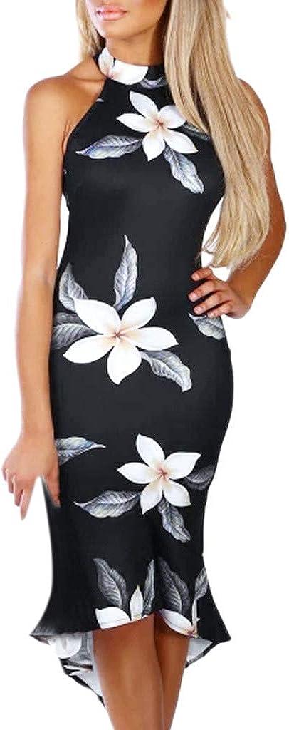 Vectry Vestidos Coctel Vestidos Casuales Sueltos para Mujer Vestidos Elegantes para Niña Moda Mujer 2019 Rebajas Vestidos Vestidos Cortos Verano 2019 Vestidos para Playa Mujer