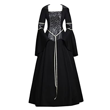 Amazon.com: CosplayDiy Women\'s Medieval Gothic Witch Vampire Costume ...
