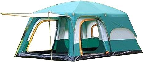 WYFDM Tienda de campaña para Acampar al Aire Libre 6-8 Personas Dos Habitaciones Una Sala a Prueba de Lluvia para Varias Personas Tienda de campaña Grande Camping Familiar: Amazon.es: Deportes y aire