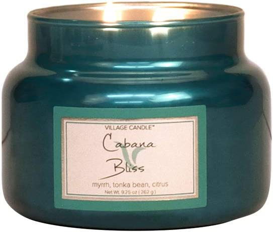 Verde 10.3 x 10.1 x 10 cm Village Candle Cabana Bliss Candela