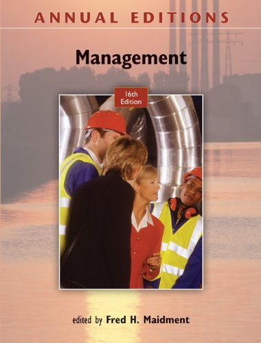 Annual Editions: Management, 16/e