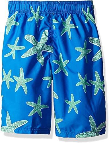 Toddler Boys' Starfish Sea Life Quick Dry Beach Board Shorts Swim Trunk Royal Blue 4T [並行輸入品]