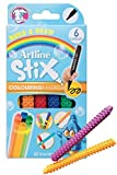 stix bullet - Artline Stix Coloring Markers 6 Assorted Color Set- 1.2mm Bullet Tip Coloring Markers- Non Toxic Artline Stix Build and Draw Connecting Markers by Artline