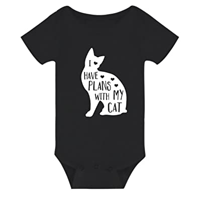 Amberetech Infant Romper Have Plans with My Cat Print Top Onesies for Newborn Baby Boy Girl
