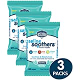 Saline Soothers Moisturizing Tissue for Face, Nose, Hand and Eye Wipes, Boogie Wipe, Allergy Relief, Menthol, 60 Wet Wipes (Pack of 3)