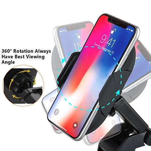 Wireless Car Charger, APUPPY Automatic Qi Wireless Dashboard