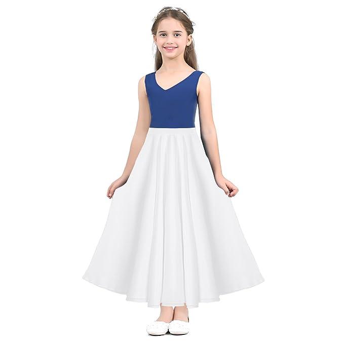 bfe7000310 Alvivi Falda Larga de Ballet Clásica Traje de Danza Niña Flamenco Tango  Sevillanas Vestido Chicas Skirts SZ 6-14 Años  Amazon.es  Ropa y accesorios
