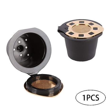 Deanyi Inoxidable con Tapa de cápsulas de café para Nespresso cafetera Eco Filtro Reutilizable 3-