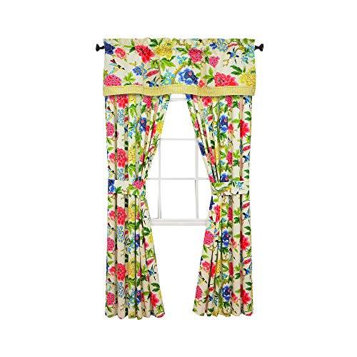 Waverly Charmed 2-Pack Rod-Pocket/Back-Tab Curtain - Waverly Tab Curtains