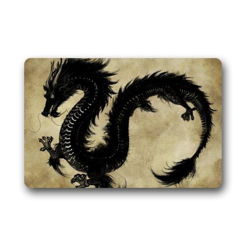 """Price comparison product image Doormat Wonderful Black Dragon Painting Indoor / Outdoor / Front Door / Bathroom Mats Floor Mat 23.6""""(L)x15.7""""(W) 3 / 16"""""""