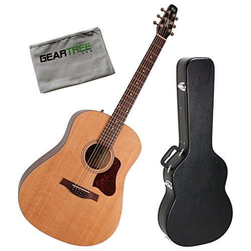 Seagull 046409 S6 Original SLIM Acoustic Guitar Bundle with Case