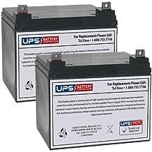 Set of 2 - MK Battery MU1SLDG Battery - Replacement UB12350 Universal Sealed Lead Acid Battery (12V, 35Ah, 35000mAh, NB Terminal, AGM, SLA)