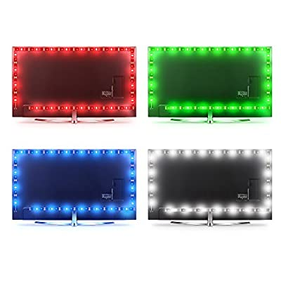 LED Strip Lights for TV 65 to 75inch,WENICE tv Backlight Strip 4.5m/14.9ft with 24key IR Remote Multi Color-The Longer