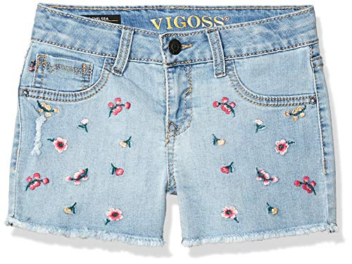 VIGOSS Girls' Big Fashion Short, Petite Fleurs Hippie Heaven, 7]()