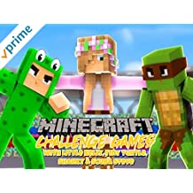 Minecraft Challenge Games with the Little Kelly, Tiny Turtle, Sharky & Scuba Steve