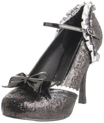 Ellie Shoes Women's 453-Lacey Glitter Maryjane Pump,Black Glitter,9 M (Black Glitter Lacey Shoes)