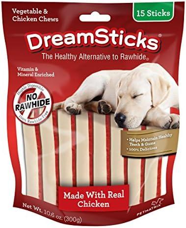 DreamSticks, Vegetable Chicken Chews, Rawhide Free, 15-Count DBC-02396