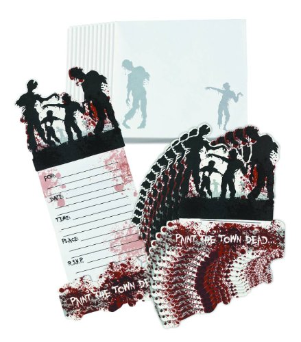 (Fun Express - Zombie Party Invitations 12 Piece Pack)
