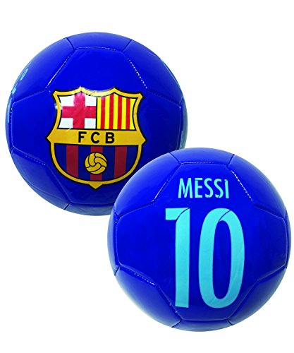 Messi Signature Soccer Ball, Size #2, #4, #5, FC Barcelona Messi Ball with Name, Number and Signature, Blue Color (Size 4)