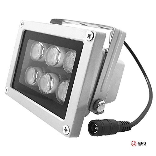 JC Infrared Illuminator 6Led High Power Wide Angle IR Illuminator for 850nm IP Camera CCTV Security Camera (Cctv Illuminator)