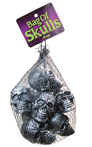 Fun World Bag of Metallic Skull Heads Halloween Prop Decoration for $<!--$6.29-->