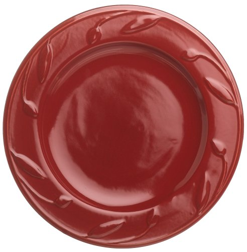Signature Housewares Sorrento Collection 8-Inch Salad Plates, Ruby Antiqued Finish, Set of 6