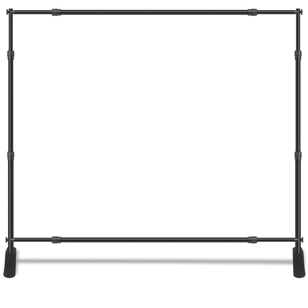 Adjustable Banner Stand 8' X 5', Hollywood Star Themed Step and Repeat Photography Backdrop, Telescopic Stand, Free Carry Bag (Adjustable Stand Only)