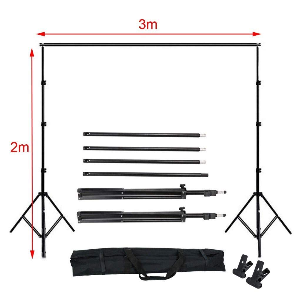 Green Backdrop 400W 5500K CanadianStudio Photography Umbrellas Continuous Lighting Kit 10ft Backdrop Support System with Background Screen for Photo Video Studio Shooting