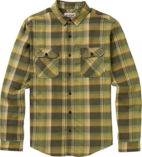 - Burton Men's Brighton Flannel Shirt, Forest Night Stella Plaid, Medium