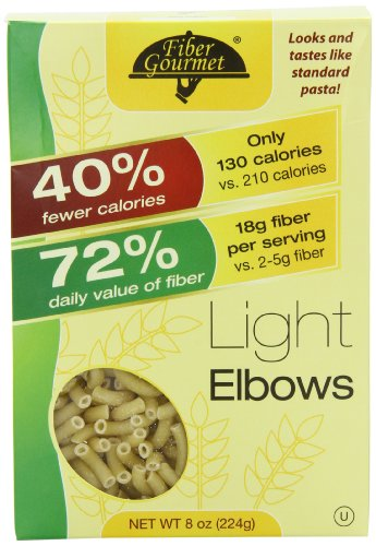 Fiber Gourmet Light Elbow Macaroni, 8 Ounce (Pack of (Light Pasta)