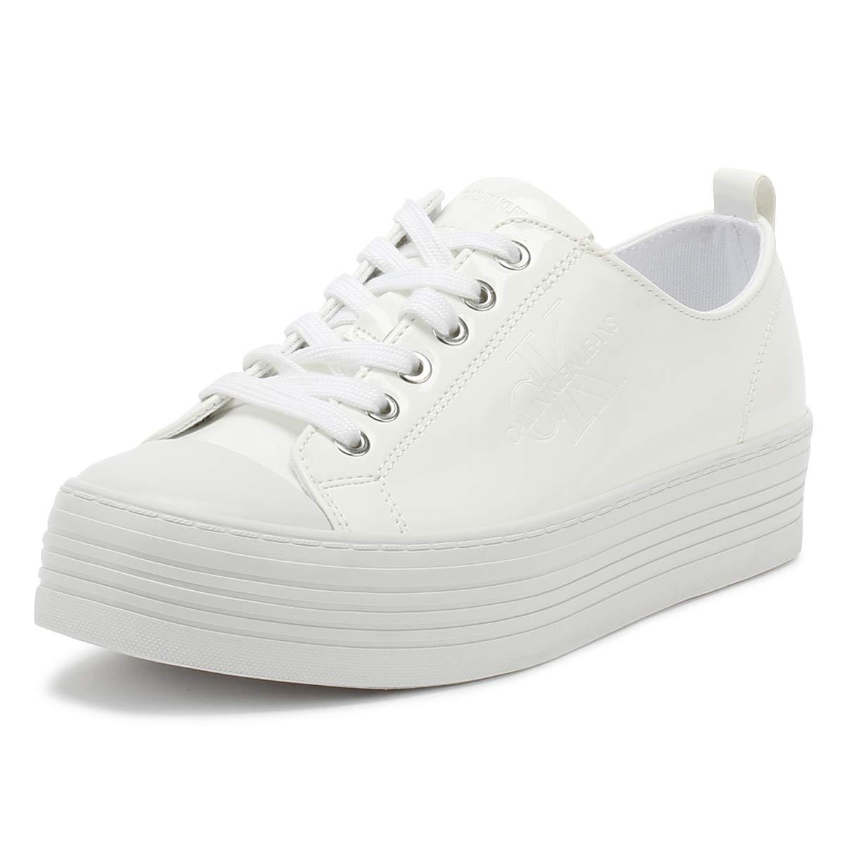 Calvin Klein Jeans Zolah Patent, Zapatillas para Mujer 36 EU|Blanco (White 000)