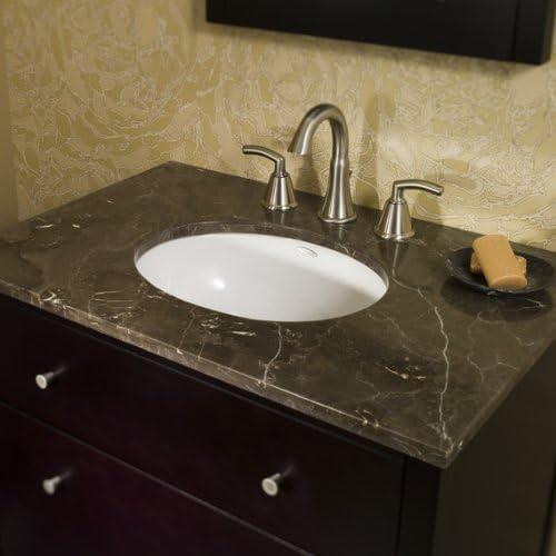 American Standard 0497.221.045 Ovalyn 19-Inch Basin Undercounter Sink with Front Overflow, Fawn Beige
