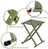 Portable Folding Stool, Heavy Duty Outdoor Folding