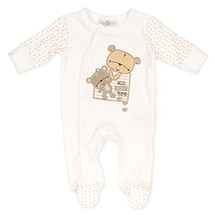 Lily & Jack Baby Unisex Pelele Crema | Diseño: Oso | Baby Body con ...