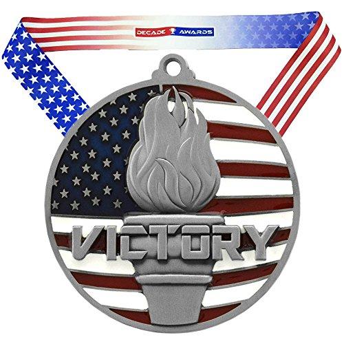 Decade Awards Silver Patriotic Victory Medal - 2.75