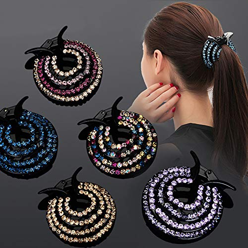 WensLTD Clearance! Women Girls Hair Clips Nest Rhinestone Hairpin Ponytail Bun Holder Accessory (E) by WensLTD (Image #5)