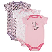 Luvable Friends Bodysuits (3 Packs), Paris, 6-9 Months