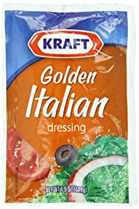 Kraft Golden Italian Salad Dressing, 1.5-Ounce Packages (Pack of 60)
