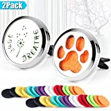 hole house air freshener - 2PCS Car Diffuser Vent Clip 30mm Stainless Steel Car Aromatherapy Essential Oil Diffuser Locket Car Air Freshener Vent Clip with 32 Felt Pads