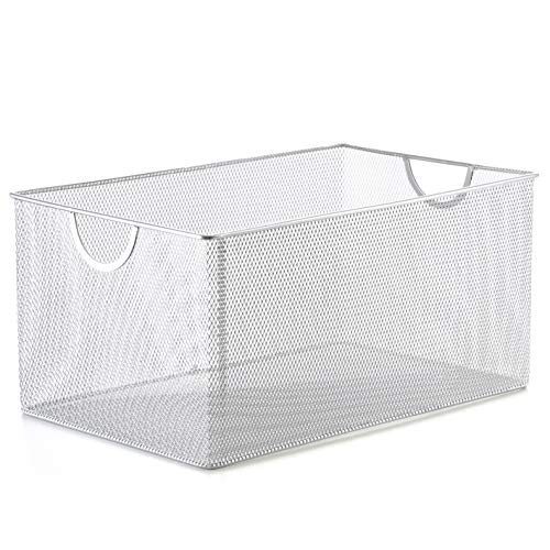 (YBM Home 2321 Mesh Open Bin Storage Basket Organizer )