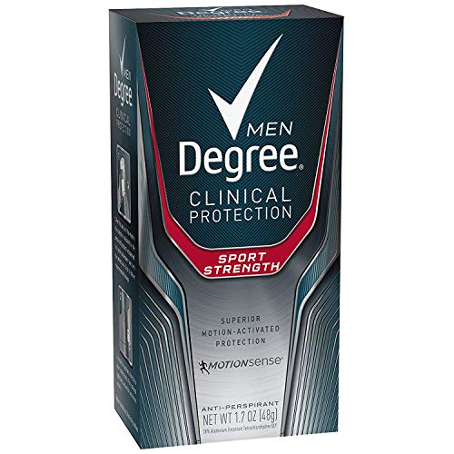 Degree Men Clinical Antiperspirant Deodorant, Sport Strength 1.7 oz, (Pack of 4)