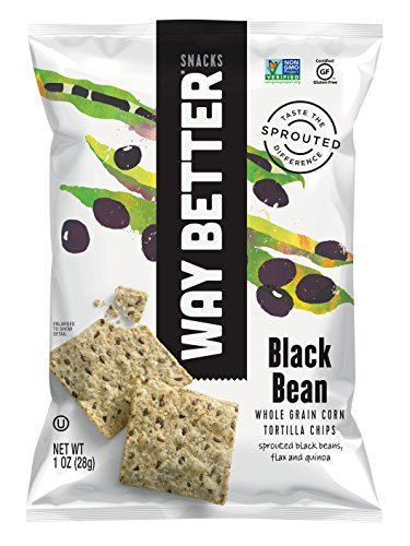 Way Better Snacks Sprouted Whole Grain Thin and Crispy Tortilla Chips