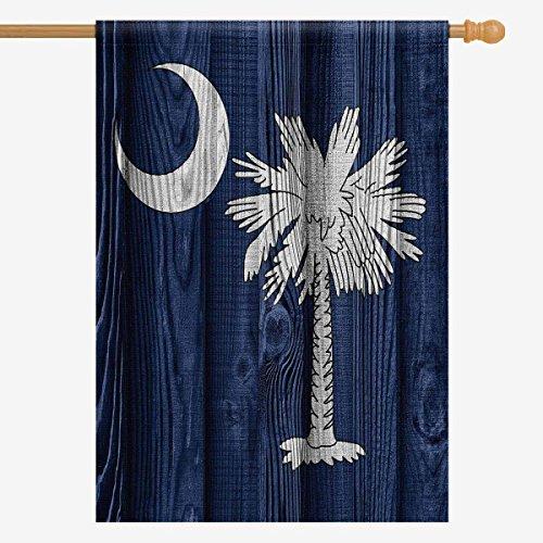 InterestPrint Flag of South Carolina State  On Wood House Fl