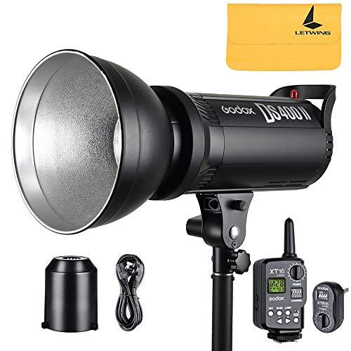 Godox DS400II 400w GN76 2.4G Wireless X System Studio Strobe Flash Light with Bulbs 110v+Godox XT-16 Flash Trigger Kit