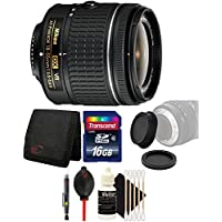 Nikon AF-P DX NIKKOR 18-55mm f/3.5-5.6G VR Lens for Nikon DSLR Cameras w/ Accessory Bundle